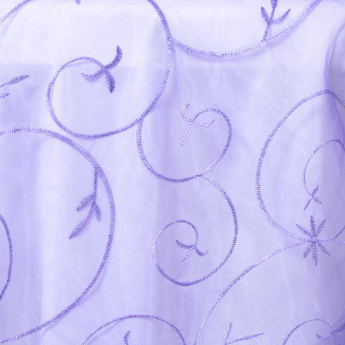 "Purple Embroidered Overlay 72""x72"""