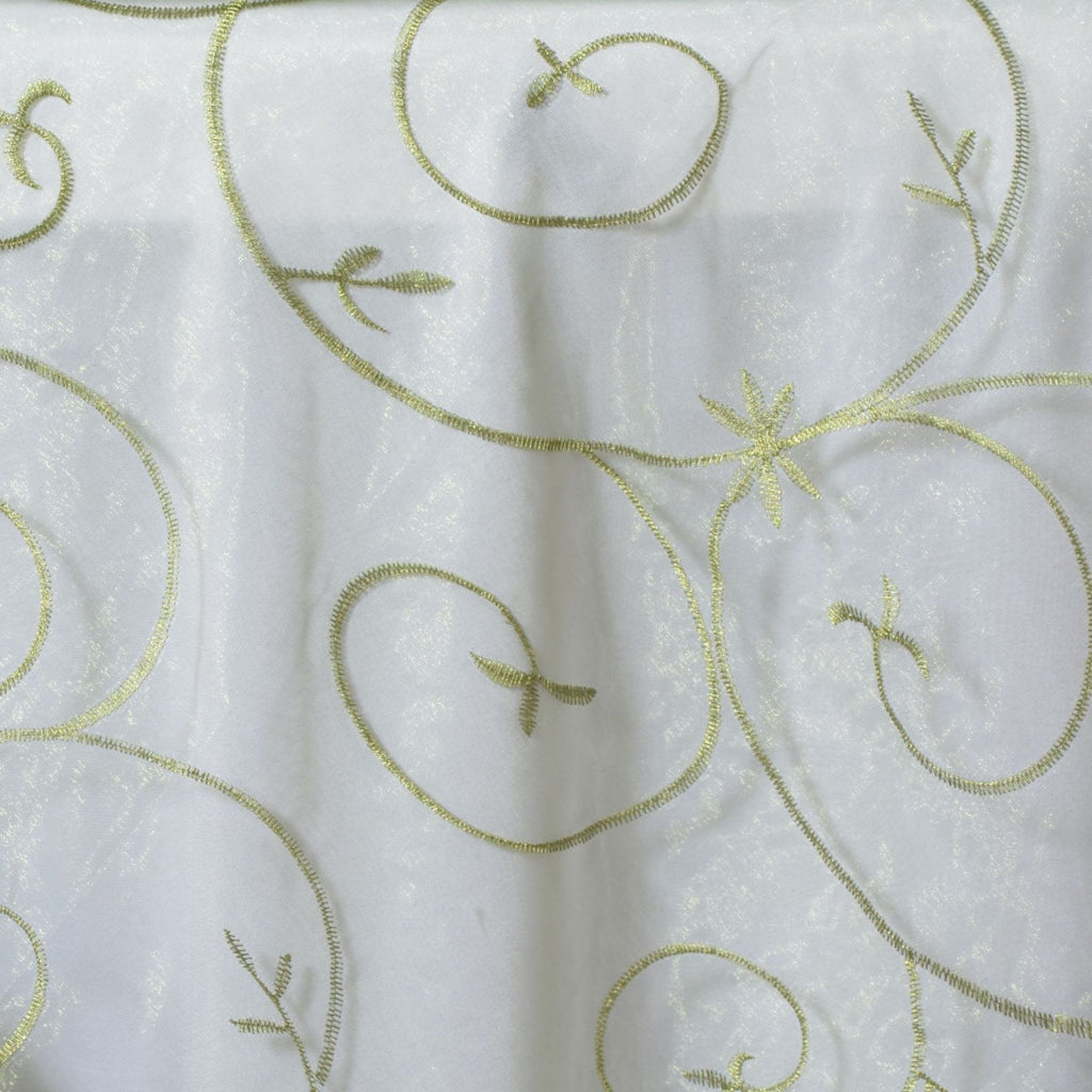 "Embroidered Overlay 72""x72"" - Moss / Willow"