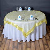 "Yellow Embroidered Overlay 72""x72"""