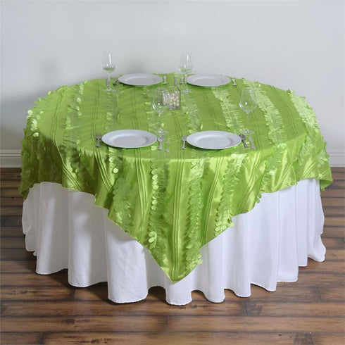 "Paradise Forest Taffeta Overlay 72""x72"" - Apple Green"