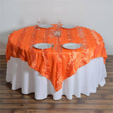 "Paradise Forest Taffeta Overlay 72""x72"" - Orange"