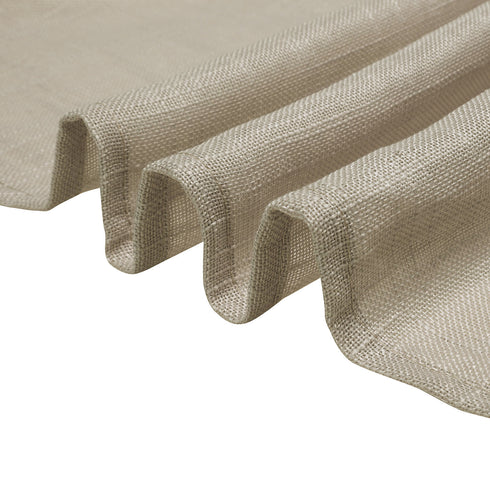 72x72 Beige Linen Square Overlay | Slubby Textured Wrinkle Resistant Table Overlay