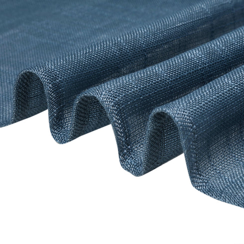 72x72 Blue Linen Square Overlay | Slubby Textured Wrinkle Resistant Table Overlay