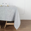 72x72 Silver Linen Square Overlay | Slubby Textured Wrinkle Resistant Table Overlay