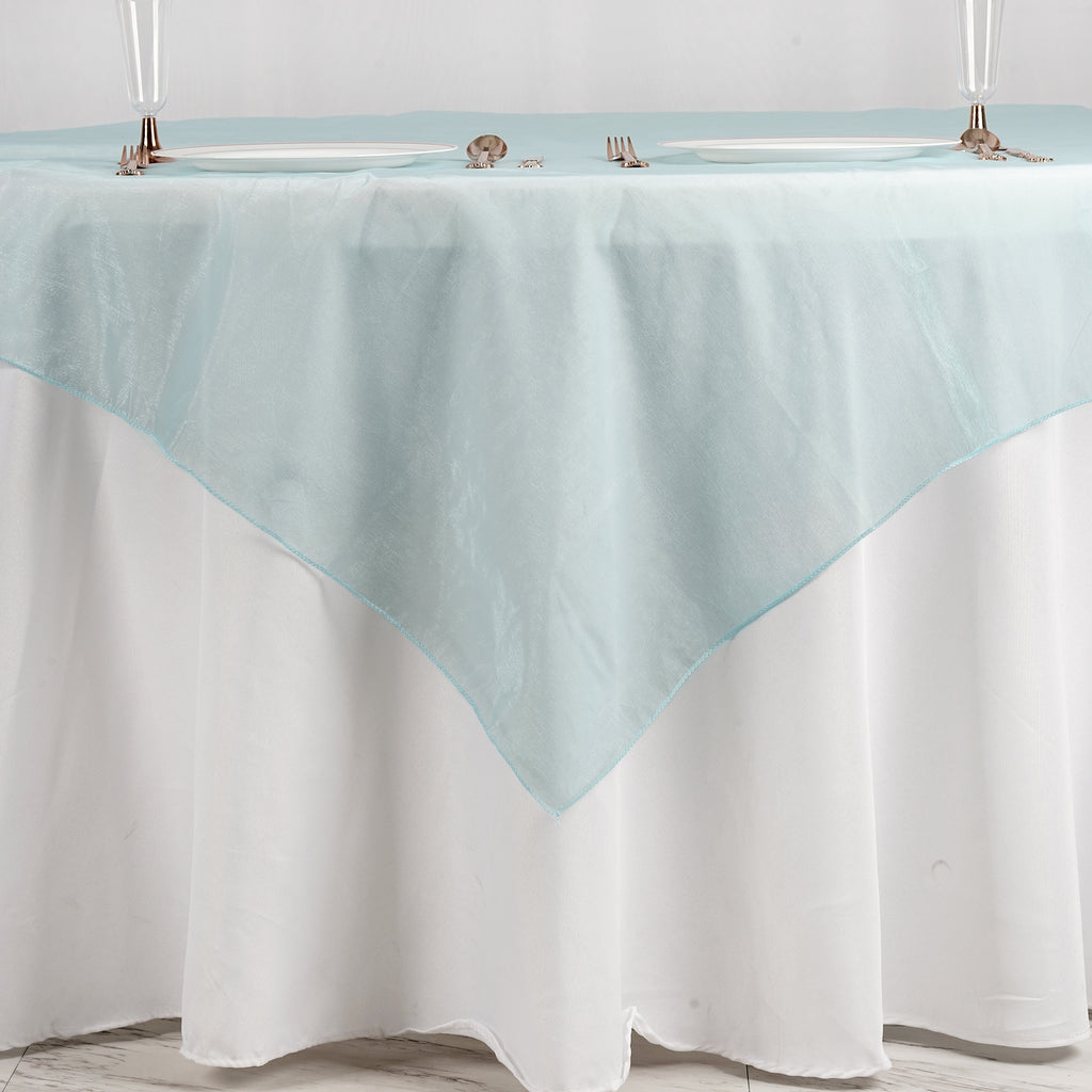 Light Blue Organza Overlay 72x72""