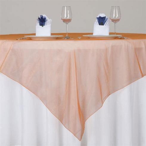 Orange Organza Overlay 72x72""