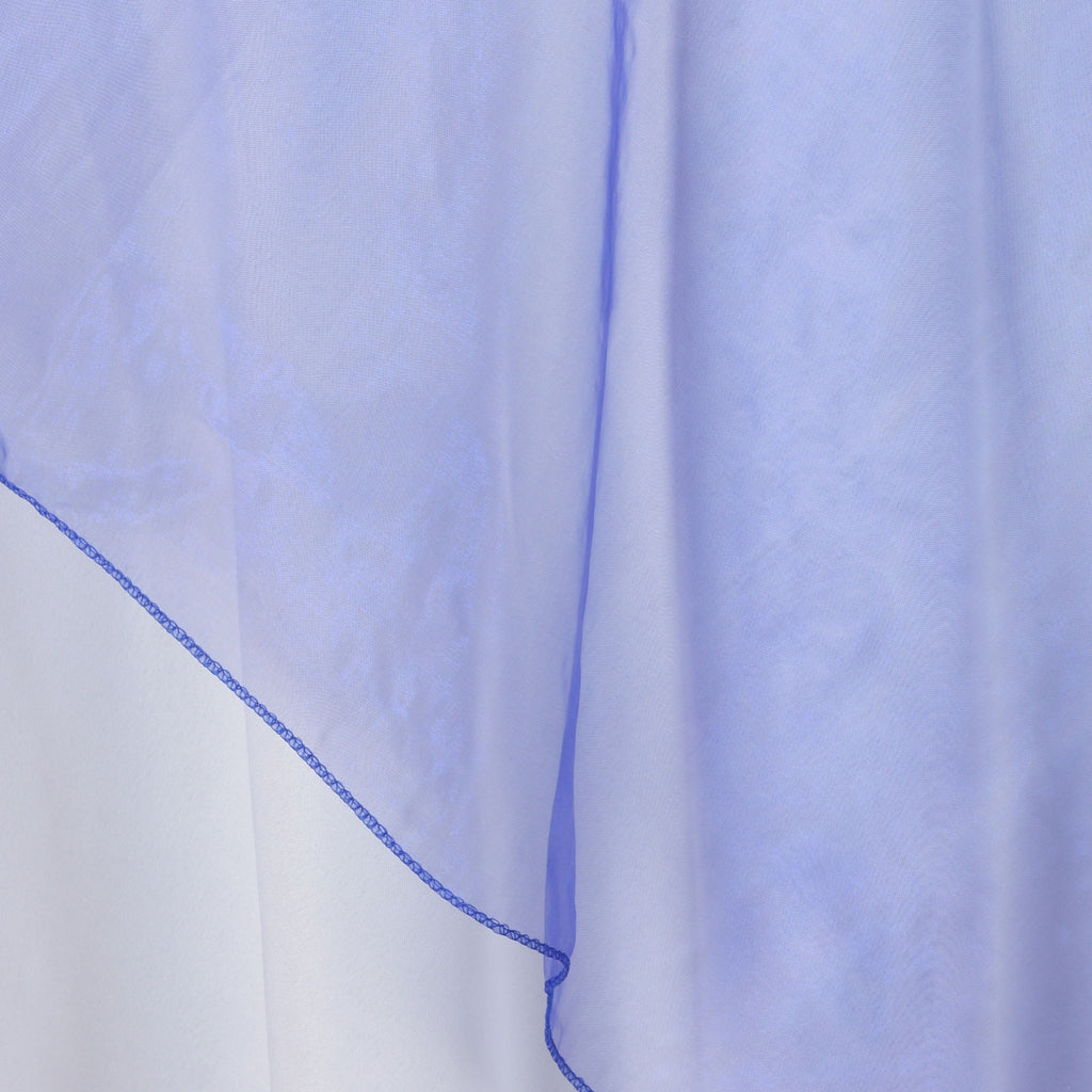 Royal Blue Organza Overlay 72x72""