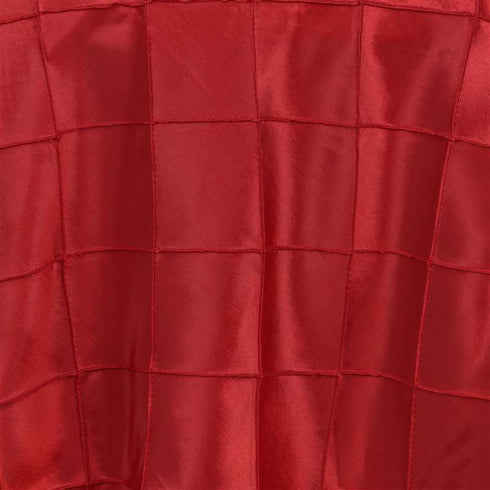 "72"" Wholesale Red Pintuck Overlay For Wedding Party Event Decoration"