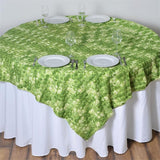 "Ballroom Mini-Rosettes Overlay 72""x72"" - Sage Green / Apple Green / Cream"