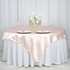 "72"" Blush Wholesale Satin Square Overlay For Wedding Catering Party Table Decorations"