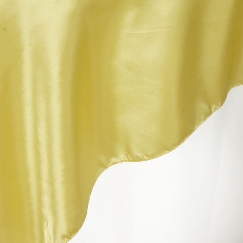 Yellow Satin Overlay 72x72""