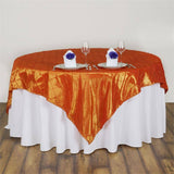 "Orange Pintuck Overlay 85""x85"""