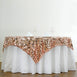 "90"" Premium Big Payette Sequin Overlay For Wedding Banquet Catering Party Table Decorations - Blush"