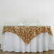 "90"" Gold Premium Big Payette Sequin Overlay"