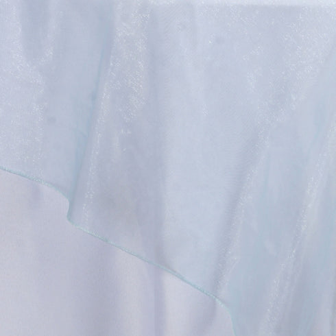 Light Blue Organza Overlay 90x90""