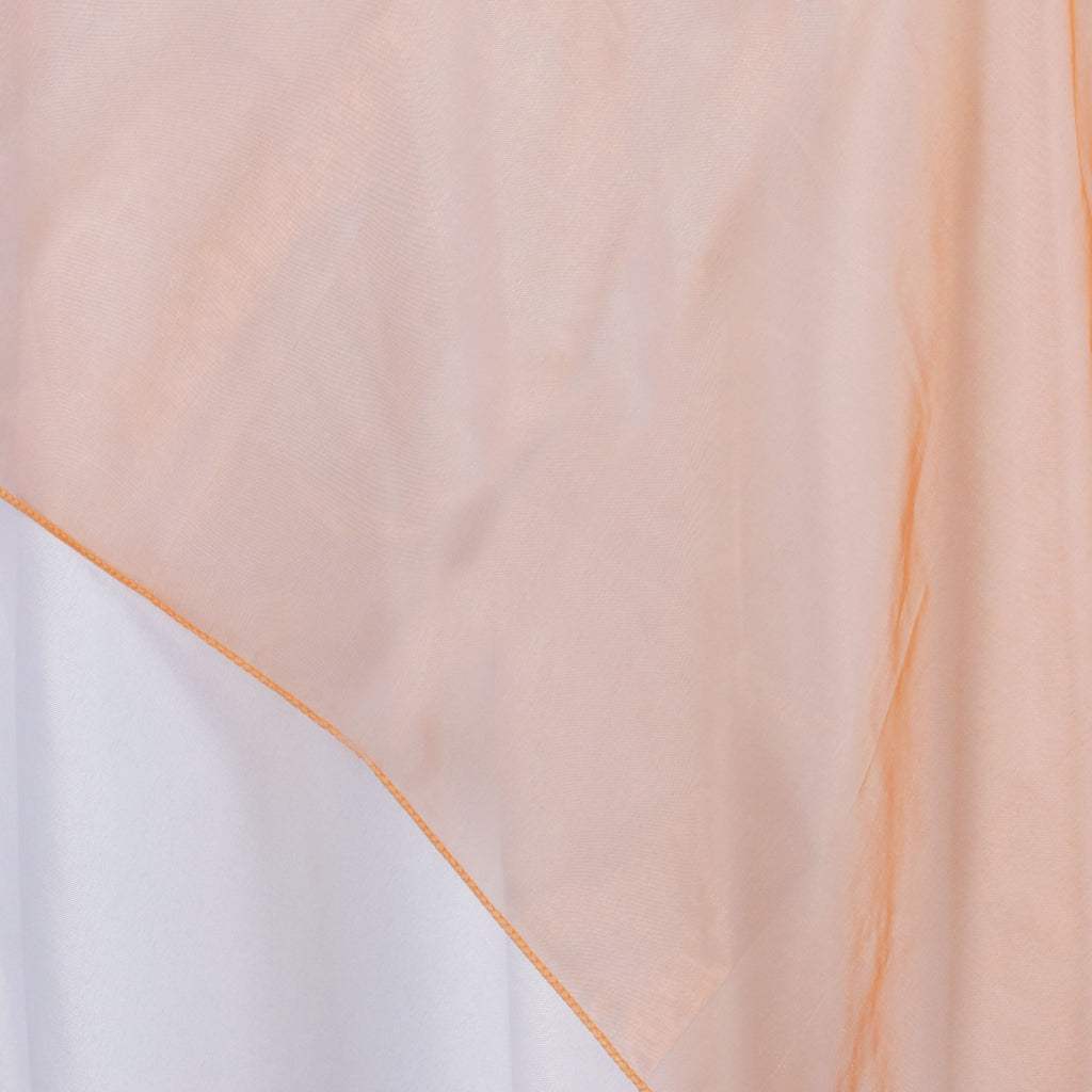 Orange Organza Overlay 90x90""