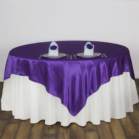 Purple Satin Overlay 90x90""