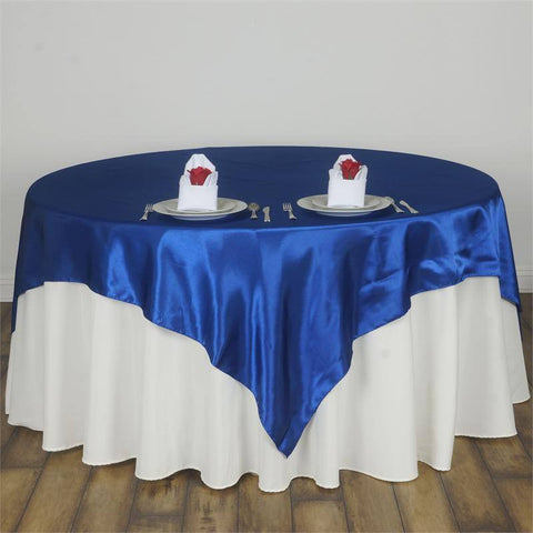 Royal Blue Satin Overlay 90x90""