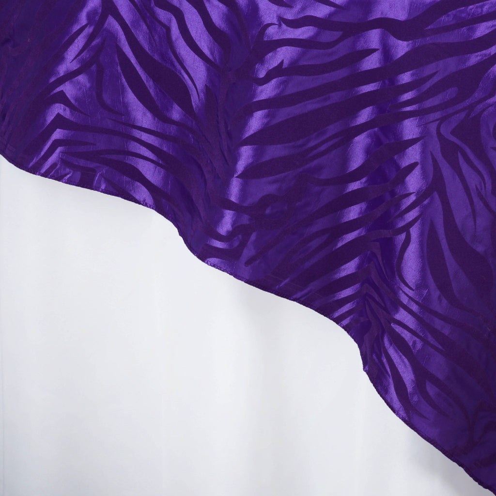 "Zebra Safari Overlay 90""x90"" - Purple / Purple"