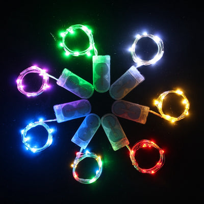 7.5 FT 20 LED Assorted Color Fairy String Light Lamp