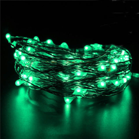 "72"" WHIMSICAL Fairy Lights LED Green"