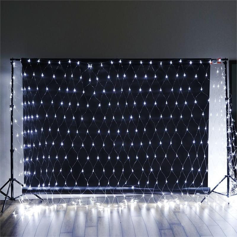 20ft x 10ft Twinkle In The Night LED Lights for Backdrops - White