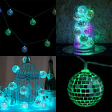 6 Ft 15 Color Changing Led Disco Mirror Ball Battery