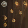 6 Ft 10 Warm White LED Disco Mirror Ball Battery Operated String Light - Dual Mode
