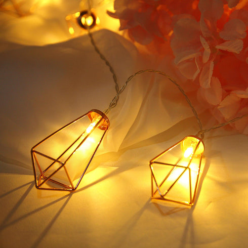 Led Geometric Prism Battery Operated Fairy String Light Efavormart
