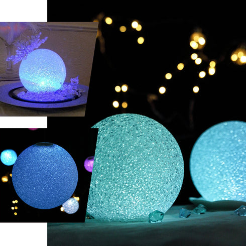 "10"" Color Changing Portable LED Centerpiece Ball Lights - Battery Operated LED Orbs"