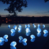 "LED Light Up Latex Balloons - 12"" - Royal Blue - 10pcs"