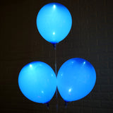 10 Pack 12'' Royal Blue LED Light Up Latex Balloons