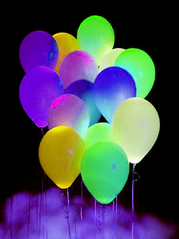 10 Pack | 12'' Yellow Latex LED Light Up Balloons