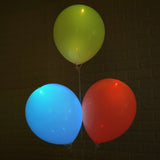 10 Pack 12'' White Assorted LED Light Up Latex Balloons