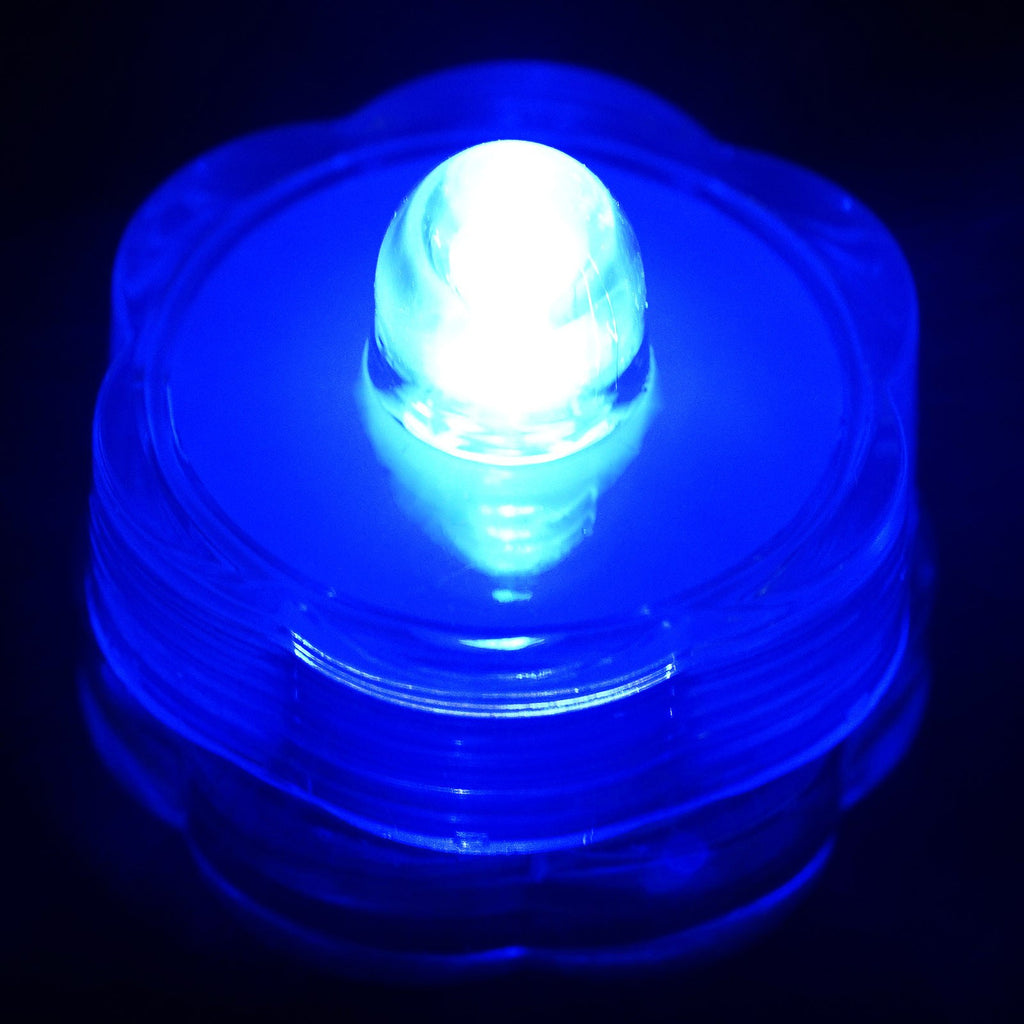 Submersible LED Waterproof Light RGB for Vase Wedding Party Fish Tank - Blue-12pcs