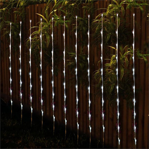 Set of 4 | 28 LEDs White Outdoor Automatic Energy Saving Rechargeable Solar Powered Garden and Event Lights