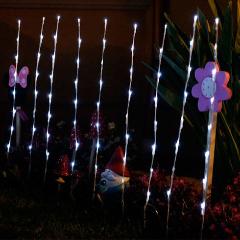 SOLAR POWERED Party Garden LED Light - White - SET OF 4