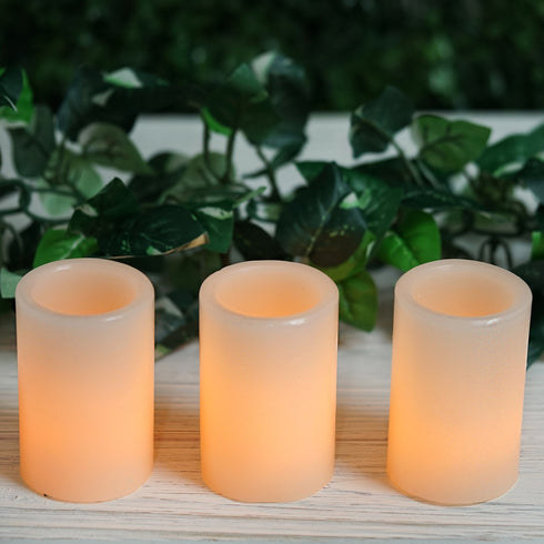 3 Pack LED Votive Candles Flicker Flameless Tea Light Candle Warm White