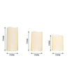 "Set of 5 - Ivory Flickering Flameless LED Candles - Color Changing Battery Operated Pillar Candles With Remote - 6"", 5"", 4"""