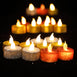 12 Pack - Silver Glitter Flameless LED Candles - Battery Operated Tea Light Candles