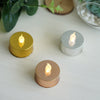 12 Pack - Metallic Flameless LED Candles - Battery Operated Tea Light Candles - Silver