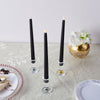 Set of 3 | 11 inch Black Flickering Flameless Battery Operated LED Taper Candles
