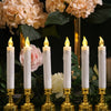 LED Candles, Battery Operated Candles,Gold Candlesticks, Window Candles