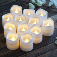 Di Maggio Rose Scent Battery Operated LED Flameless Candles with Timer Tealight Candles Flickering Warm White Electric Fake Candle Best Gift Set for Women Home Decor Wedding Decorations 3.5 x 4/'/'
