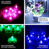 12 Pack | Warm White Waterproof Battery Operated Submersible LED Lights