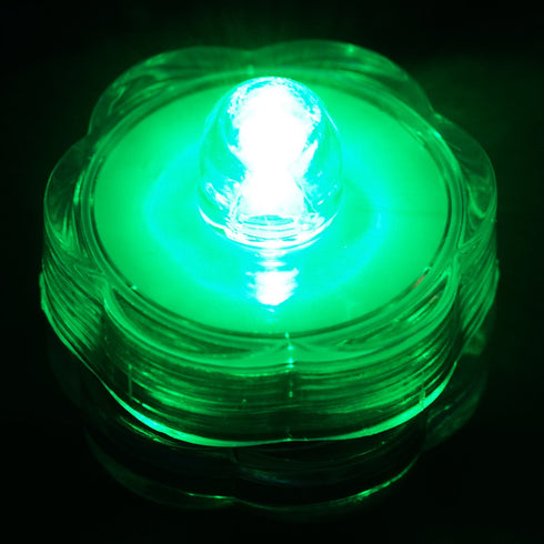 12 Pack | Green Waterproof Battery Operated Submersible LED Lights