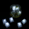 Pack of 12 - White Submersible Waterproof LED Ice Cubes With Flash & Blink Modes