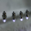 12 Pack | White Bullet LEDs With String | Waterproof Balloon Lights Vase LEDs