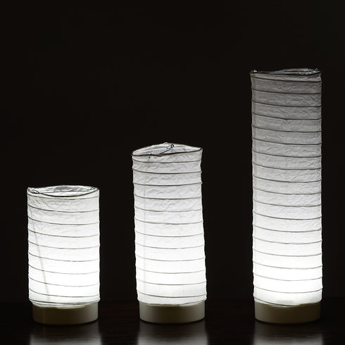 3 Pack | Battery Operated Cylinder Paper Lanterns Tabletop LED Light