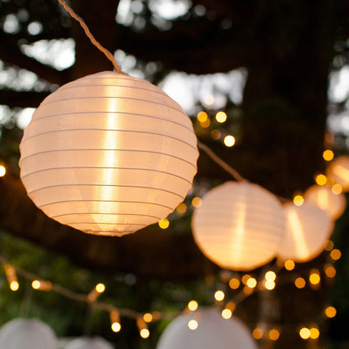 11 FT | 10 LED Nylon Mini Lantern String Lights